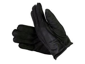 Isotoner Men's Leather Suede Gloves with Thinsulate Lining Black