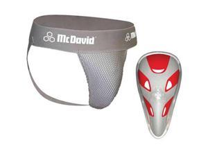 McDavid Classic Logo 3300JCF CL Athletic Supporter W/ Flexcup / Mesh - Gray - Teen Regular