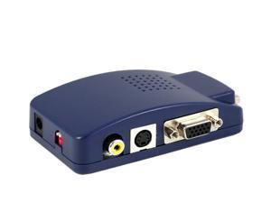 Computer VGA to TV RCA Composite Converter Adapter S-Video Box PC Laptop LCD TV VGA to PC TO TV VGA AV BNC computer to VGA video