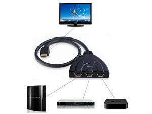 HD HDMI Switcher 3 in 1 out HDMI video switch 3 Port HDMI Switcher Splitter Premium High Speed 3x1 3 in 1 out HDMI Audio Switch Hub Box for HDTV PS3 PS4 Xbox 360 Xbox One Beamer DVB Receiver Blu-ray
