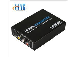Av+s-video to hdmi S port  to HDMI AV HDMI S-VIDEO HD full 1080P splitter S-Video & Composite RCA to HDMI Converter AV Adapter - R/L Audio - 1080P Scaler