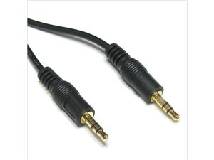 3.5mm Male to Male Stereo Audio Cable  Stereo Audio Cable M-M  1.5 Meter - ( 6ft, Black ) For  computer ,PC
