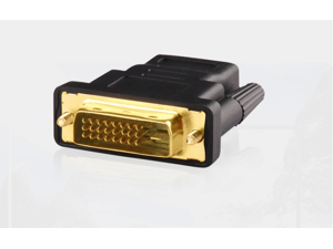 DVI 24+1 Male to HDMI Female Adapter for High Definition (HD) Images Gold Plated