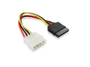 4 Pin IDE Molex to 15 Pin Serial ATA SATA Hard Drive Power Adapter Cable