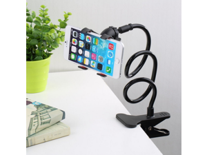 mobile phone mount for Bed, Car, Desk, Chair with mounting clip - Universal Flexible Long Arms Mobile Phone Holder Desktop bed lazy bracket mobile Stand Support all Mobiles Wide less than 90MM