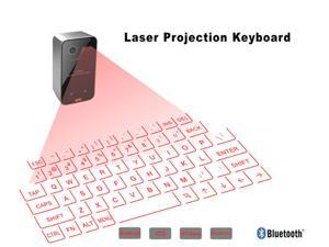 Wireless Laser Projection Bluetooth Vitual Keyboard for Iphone, Ipad, Smartphone and Tablets with keyboard mouse function 2th Genaration