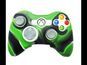 New Xbox 360 Game Controller Silicone Case Skin Protector Cover (Green Camo)