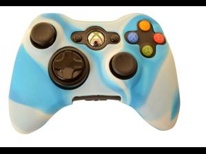 New Xbox 360 Game Controller Silicone Case Skin Protector Cover (Blue Camo)