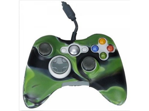 New Silicone Xbox 360 Game Controller Silicone Case Skin Protector Cover (black green Camo)