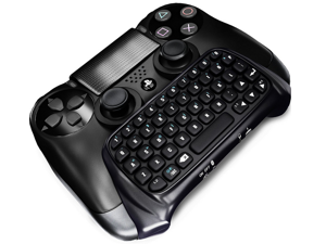 Bluetooth Mini Wireless Chatpad Message Game Controller Keyboard Chatpad for Sony Playstation PS4 Controller - Black