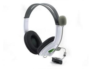 Live Headset Headphone With Microphone for XBOX 360 Slim NEW US Headset Headphone with Mic Compatible with Xbox 360 Wireless Controller