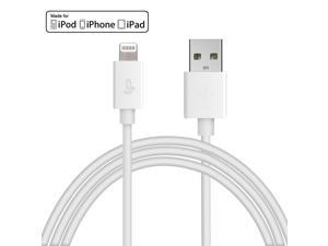 [Apple MFi Certified] LP® 8-Pin Lightning to USB Cable 3.3ft /1M Sync Charger Lead for iPhone 6 Plus 5s 5c 5, iPad Air mini mini2, iPad 4th gen, iPod touch 5th gen, and iPod nano 7th gen (White)