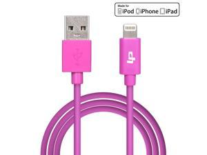 [Apple MFi Certified] LP® 8-Pin Lightning to USB Cable 3.3ft /1M Sync Charger Lead for iPhone 6 Plus 5s 5c 5, iPad Air mini mini2, iPad 4th gen, iPod touch 5th gen, and iPod nano 7th gen (Purple)