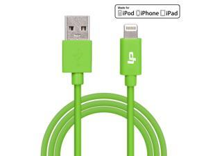 [Apple MFi Certified] LP® 8-Pin Lightning to USB Cable 3.3ft /1M Sync Charger Lead for iPhone 6 Plus 5s 5c 5, iPad Air mini mini2, iPad 4th gen, iPod touch 5th gen, and iPod nano 7th gen (Green)