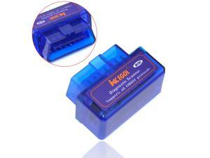 iKKEGOL Mini ELM327 Bluetooth OBD2 II V1.5 Car Auto Diagnostic Torque Andriod Scanner - Blue