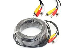 iKKEGOL 15M 49 ft BNC CCTV Camera 12V Powered Video Extension Cable for DVR Security Camera