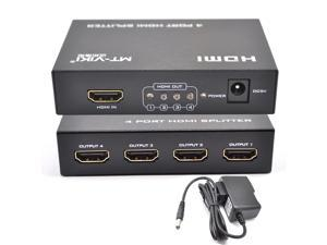 iKKEGOL 4 Port HDMI 1 Input 4 Output Amplifier Switch Splitter HUB 3D 1080P HDTV STB HDCP with Power Adapter