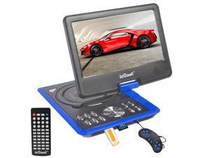 "iKKEGOL 50034C 9"" LCD Portable DVD Player Remote Car Charger DIVX USB SD Game Movie Game MP4 - Blue"