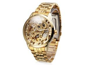 V6 387595 Men's Watch Auto-Mechanical Men's Watch - Hollow Engraving, Full Stainless Steel Band
