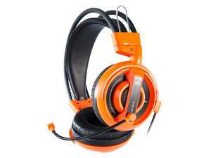 E-3LUE EHH007 Universal PC/Stereo Wired Over-Ear Gaming Headphones 3.5mm Headset Earphone with Microphone for Computer - Orange