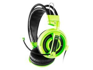 E-3LUE EHH007 Universal PC/Stereo Wired Over-Ear Gaming Headphones 3.5mm Headset Earphone with Microphone for Computer - Green