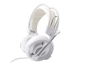 E-3LUE EHH007 Universal PC/Stereo Wired Over-Ear Gaming Headphones 3.5mm Headset Earphone with Microphone for Computer- White