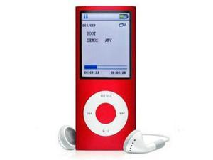 16 GB Slim Mp3 Mp4 Player 1.8 LCD Screen 4d FM Radio Video Games & Movie-Color Red