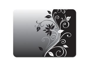 New Soft Mouse Pad Neoprene Laptop PC MousePad Swirl Black Grey