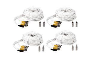 4 New 100ft BNC CCTV Video Power Cable CCD Security Camera DVR Wire CCTV Cord