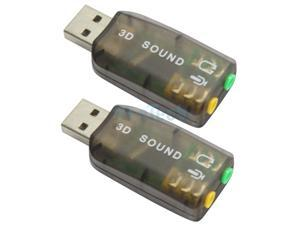 Hot Black New 2 X USB Sound Adapter Card External Audio 3D Virtual 3.5mm Jack Plug & Play