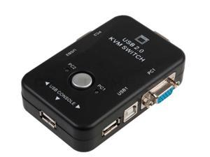2 PORT KVM SWITCH WITH 2 SET 3-IN-1 USB KVM CABLES FOR PC