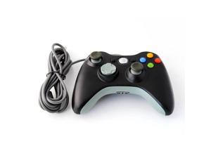 NEW Black Wired USB Game Controller For Xbox 360 PC Laptop Windows 7