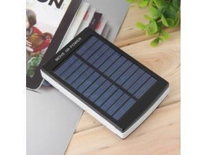 50000mAh Portable Super Solar Charger Dual USB External Battery Power Bank Black
