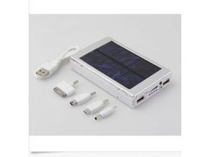 Silver 30000mAh Dual USB Portable Solar Panel Battery Charger Power Bank