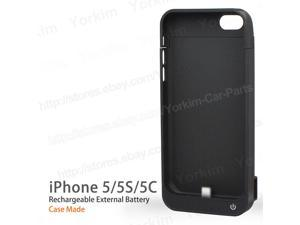 Black 4200mAh backup power bank external charger cover case pack for iphone 5/5s/5c