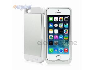 Silver 3500mAh External Backup Battery Charger Case Cover Power Bank For iPhone 5S/5
