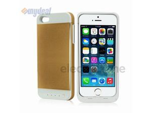 Gold 3500mAh External Backup Battery Charger Case Cover Power Bank For iPhone 5S/5