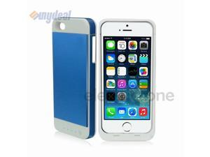 Blue 3500mAh External Backup Battery Charger Case Cover Power Bank For iPhone 5S/5