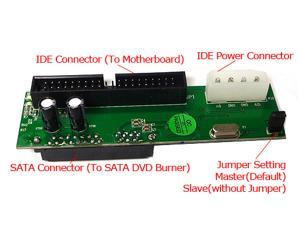 Convert SATA DVD Burner to IDE DVD Drive (IDE Motherboard) Adapter