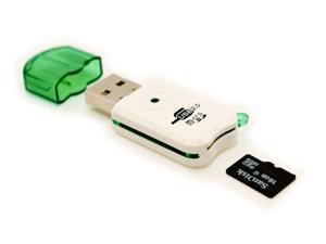 Portable USB 2.0 Adapter Micro SD SDHC Memory Card Reader/Writer Flash Drive