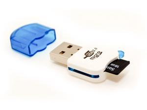 Mini USB 2.0 480 Mbps Micro SD SDHC Memory Card Reader/Writer Flash Drive