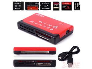 Red Mini 26-in-1 USB 2.0 High Speed Memory Card Reader For CF XD SD MS SDHC