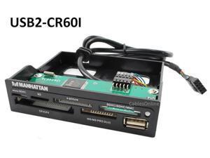 "USB 2.0 Internal 3.5"" Front Panel 60-in-1 Multi Card Reader-Writer w/ USB Port"