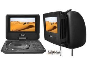"Pyle PDH9 9"" Portable Swivel TFT DVD Player USB/SD Input + Car Headrest Case"