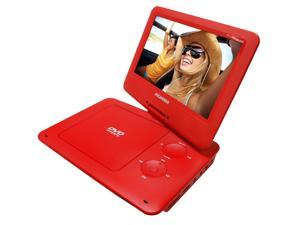 Sylvania 9-Inch Swivel Screen Portable DVD/CD/MP3 SDVD9020B Red