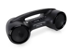 Memorex MW153 Bluetooth Bass-boost Boombox with FM Radio & 3.5mm line-in Black