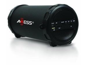 Axess Bluetooth Bazuka Boombox Rechargeable MP3/FM/SD/USB Speaker Player Black