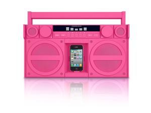 iHome iP4PZ FM iPod iPhone Speaker Dock Boombox (Pink) Compatible w/ 30 Pin