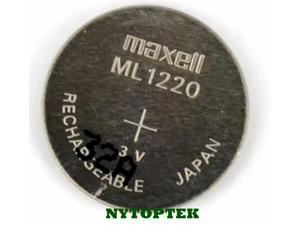 MAXELL ML1220 RECHARGEABLE CMOS BIOS BATTERY LITHIUM-ION ML 1220 3v