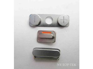 """E-buy World"" New Lock Key Side Volume Mute Switch Power Button Set for iPhone 4s Silver"